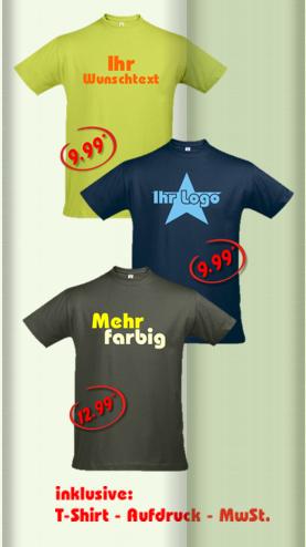 t-shirt beschriftung